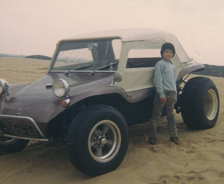 Below Is A Photo Of The Dune Buggy With Me Standing In Front At Pismo About 1968