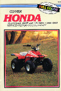 Honda X on 1986 Honda Fourtrax 200sx
